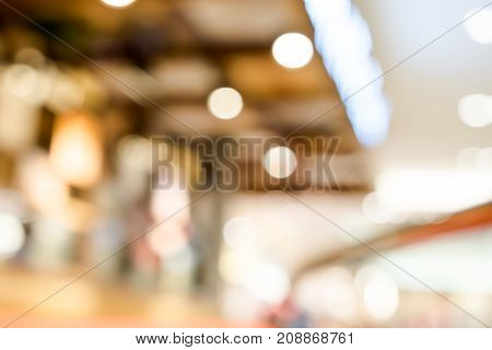 Blurred Background Menu Board At Restaurant With Bokeh Light
