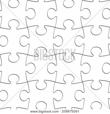 Puzzle White Pieces Seamless Background Blank Complete Jigsaw Pattern