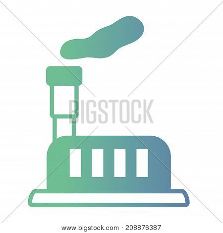 line factory pollution and toxic smoke air vector illustration