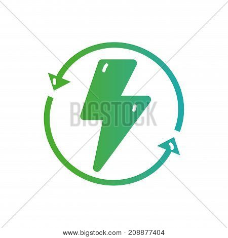 line hazard energy with arrows in circle loading vector illustration