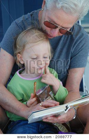 Grandma Reads To Victoria