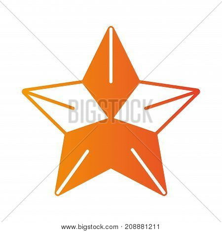line cute star shiny in the sky vector illustration