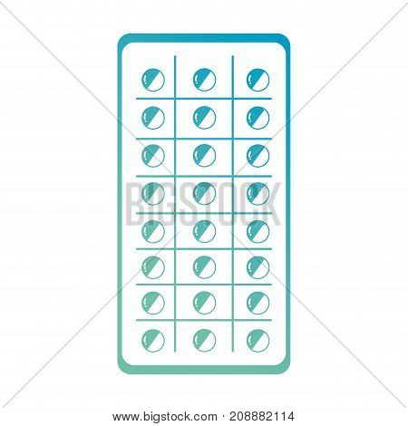 line medical pharmaceutical pill treatment vector illustration