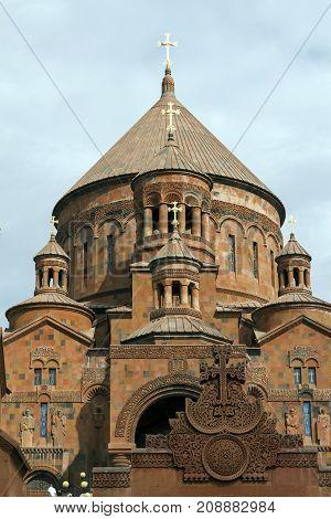 Saint Hovhannes churchthe largest in Abovyan city,Armenia.