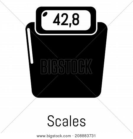 Scales icon. Simple illustration of scales vector icon for web
