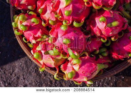 Dragon Fruits At The Street Market