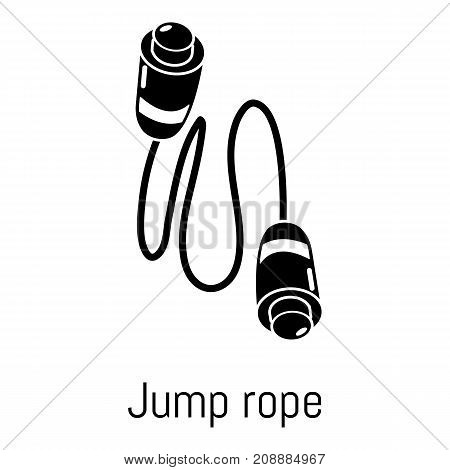 Jump rope icon. Simple illustration of jump rope vector icon for web