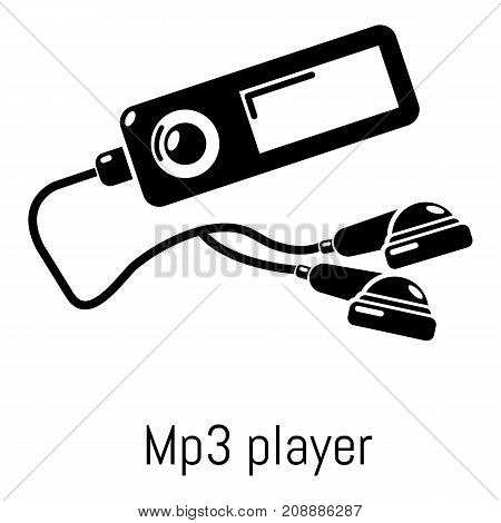 Mp3 player icon. Simple illustration of mp3 player vector icon for web