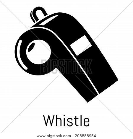 Whistle icon. Simple illustration of whistle vector icon for web