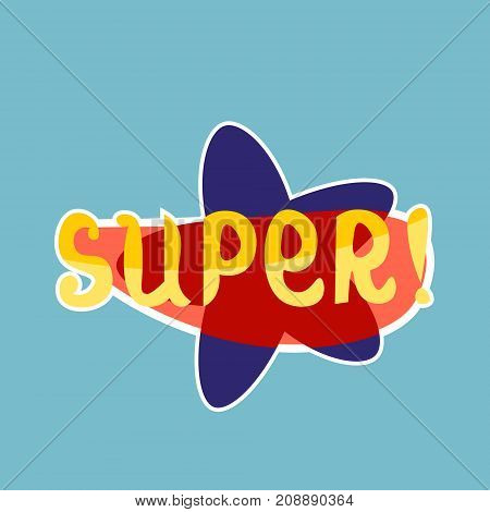 Super Sticker Social Media Network Message Badges Design Vector Illustration