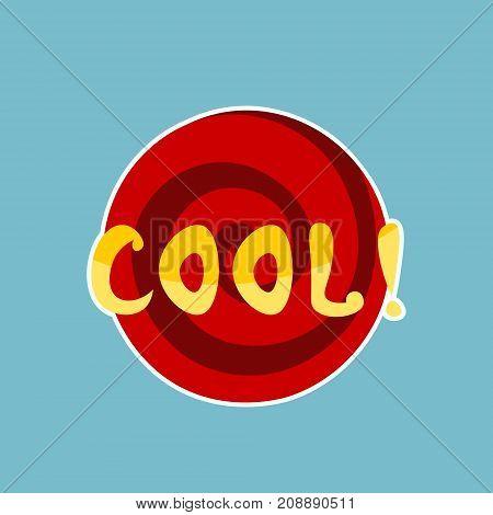 Cool Sticker Social Media Network Message Badges Design Vector Illustration