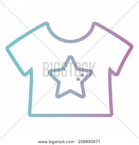 line baby t-shirt cloth design vector illustration