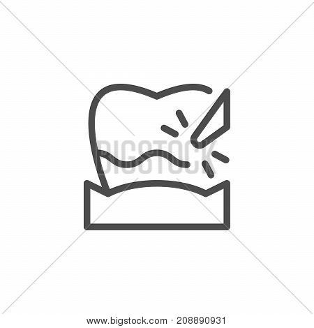 Plague removal line icon isolated on white. Vector illustration