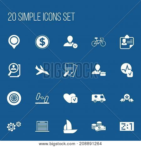 Set Of 20 Editable Complicated Icons. Includes Symbols Such As Soul, Currency, Velocipede And More