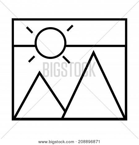 line picture art design and gallery style vector illustration