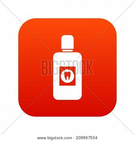 Bottle of green mouthwash icon digital red for any design isolated on white vector illustration
