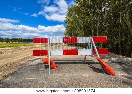 Red And White Roadblock