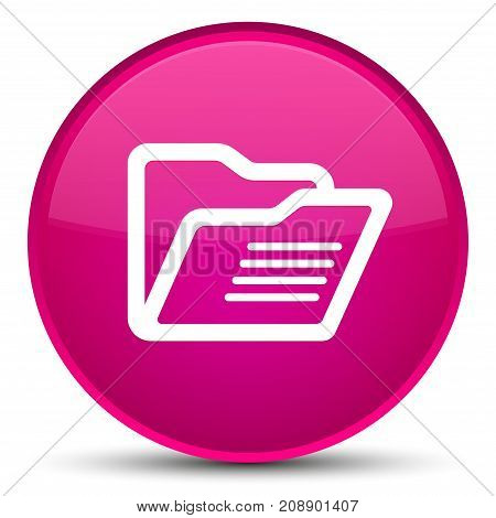 Folder Icon Special Pink Round Button