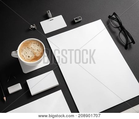 Branding stationery mockup. Blank objects for placing your design.