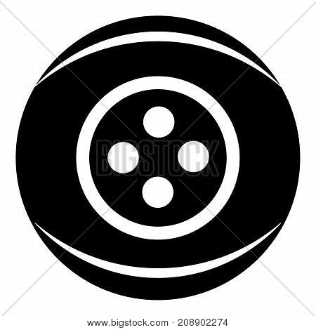 Clothing button icon. Simple illustration of clothing button vector icon for web