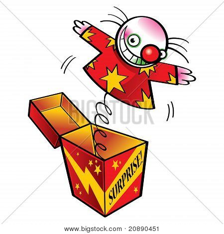 Clown In Gift Box