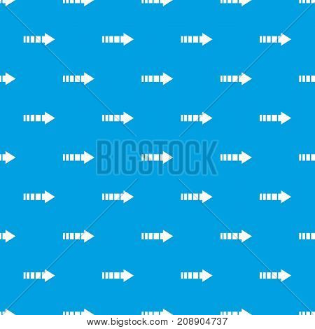 Cursor pattern repeat seamless in blue color for any design. Vector geometric illustration