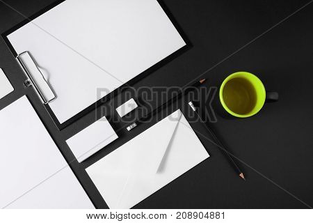Blank corporate stationery set. Brand ID elements for placing your design.