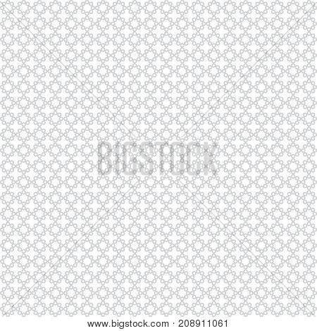 Vector seamless pattern. Simple elegant geometrical texture. Regularly repeatition outline circuit circles and dots. Vector element of graphical design