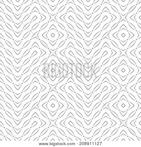 Vector seamless pattern. Modern stylish texture with regularly repetition original stars small rhombuses arcs. Trendy geometric abstract background.