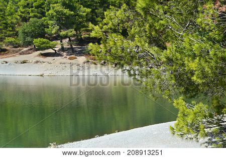 Beletsi lake near to Parnitha mountain Attica Greece