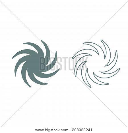 Whirpool Grey Set Icon .