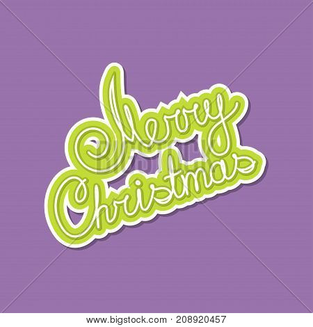 Green Text Merry Christmas on Purple Background Poster Brochure Design Merry Christmas and Happy New Year