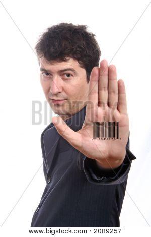 Bar Code Printed On Hand