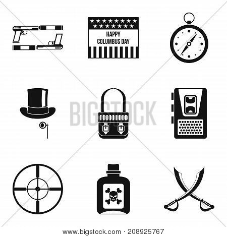 Murder icons set. Simple set of 9 murder vector icons for web isolated on white background