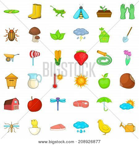 Farming harvest icons set. Cartoon style of 36 farming harvest vector icons for web isolated on white background