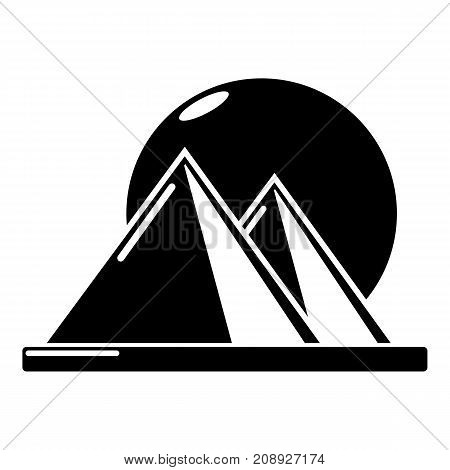 Pyramid egypt icon. Simple illustration of pyramid egypt vector icon for web