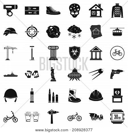 Truck icons set. Simple style of 36 truck vector icons for web isolated on white background