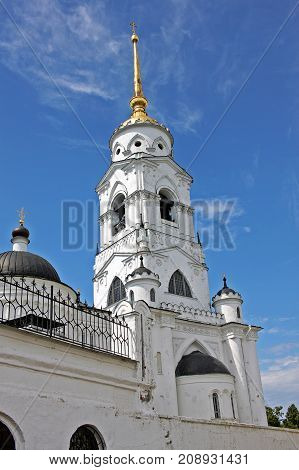 Vladimir Russia - 16 July 2017: Dormition Cathedral was a mother church of Medieval Russia in the 13th and 14th centuries. It is part of a World Heritage Site
