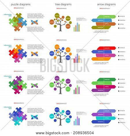 Vector diagram. Process chart. Can be used for workflow layout, diagram, business step options, banner, web design. Business data visualization.