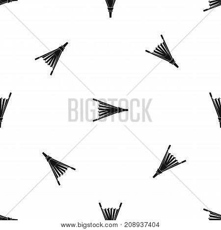 Fire bellows pattern repeat seamless in black color for any design. Vector geometric illustration