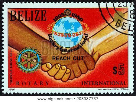 BELIZE - CIRCA 1981: A stamp printed in Belize from the