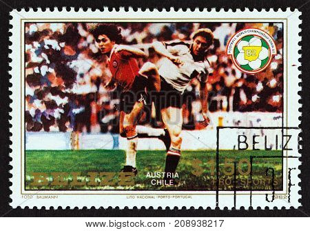 BELIZE - CIRCA 1982: A stamp printed in Belize from the