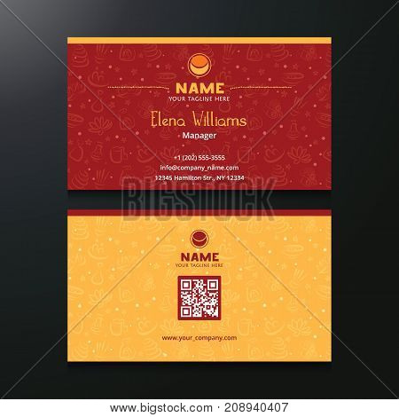Vector Multipurpose Business Card Both Side Template