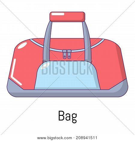Bag sport icon. Cartoon illustration of bag sport vector icon for web