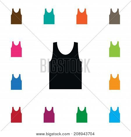 Sleeveless Tank Vector Element Can Be Used For Singlet, Sleeveless, Shirt Design Concept.  Isolated Singlet Icon.