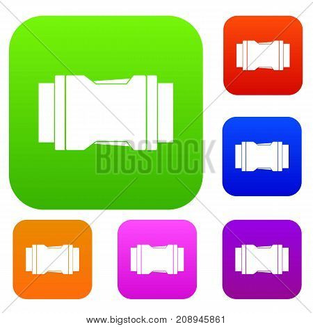 Side release buckle set icon color in flat style isolated on white. Collection sings vector illustration