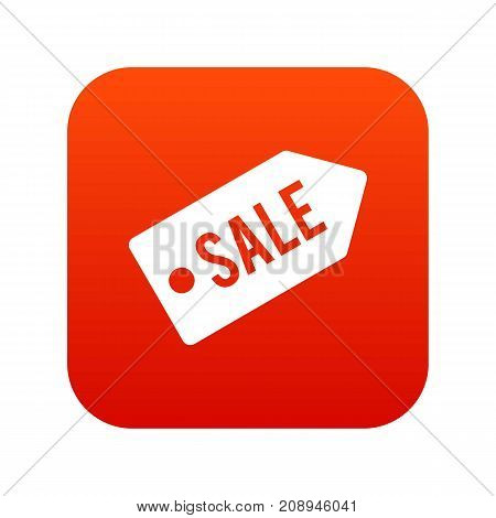 Sale icon digital red for any design isolated on white vector illustration