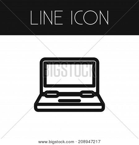 Computing Vector Element Can Be Used For Monitor, Laptop, Computing Design Concept.  Isolated Monitor Outline.