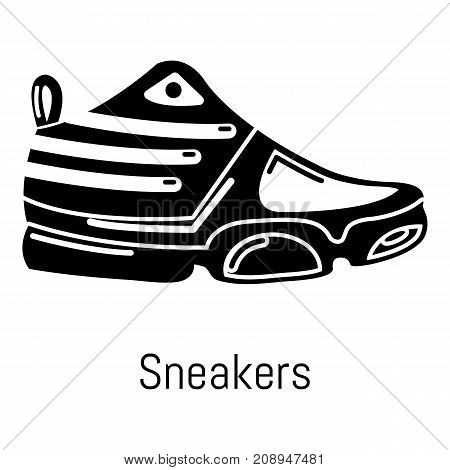 Sneakers icon. Simple illustration of sneakers vector icon for web