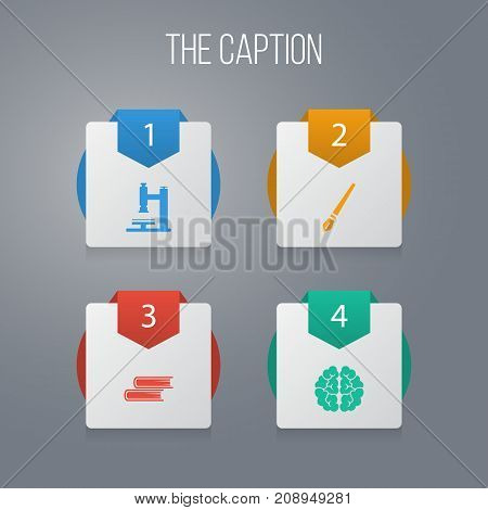 Icon Science Set Of Mentality, Paintbrush, Laboratory And Other Vector Objects